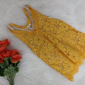 REISS Golden Yellow Lacey Tank